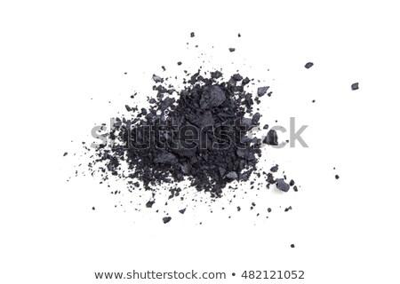 Szatén fekete por kozmetikai izolált makró Stock fotó © manera