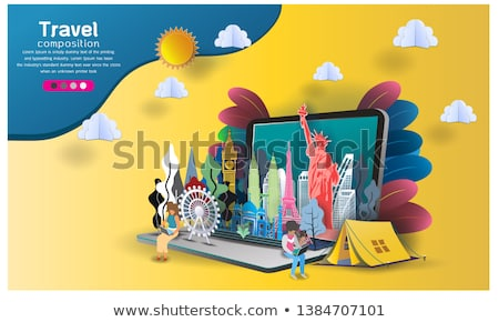 travel india 3d paper cut world landmarks stock photo © cienpies