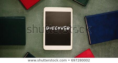 Digitalen Tablet farbenreich Tafel Fenster Stock foto © wavebreak_media