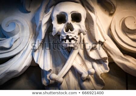 Skull decoration in church in Sweden Europe Stock photo © kyolshin