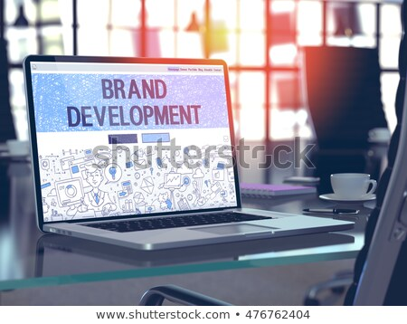 Landing Page concept with Business Doodle design style: company  Stock photo © DavidArts
