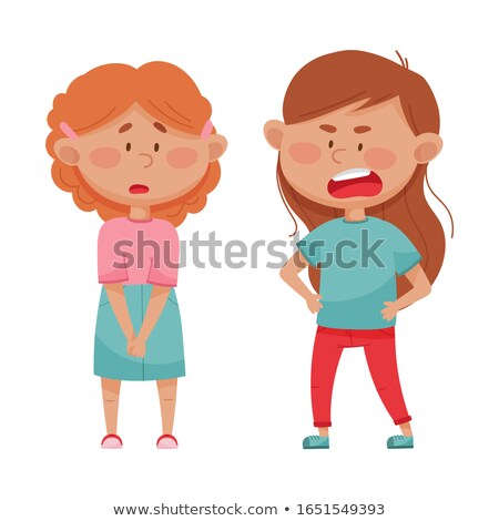 Offended girl. Stock photo © Fisher