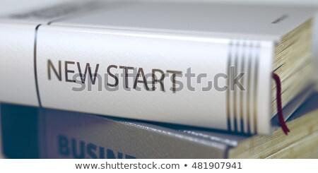 New Start. Book Title on the Spine. 3D Illustration. Stock photo © tashatuvango