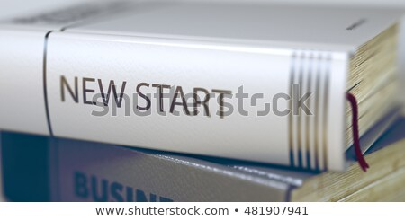 Nieuwe start boek titel wervelkolom 3d illustration Stockfoto © tashatuvango
