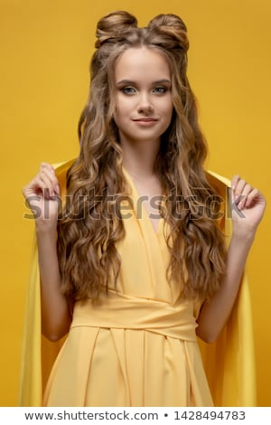 Young pretty girl with hairstyle and makeup Stock photo © dashapetrenko