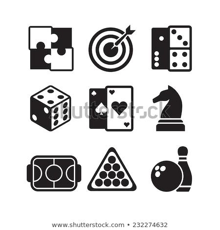 Sport gioco icone realistico ombra specchio Foto d'archivio © kup1984