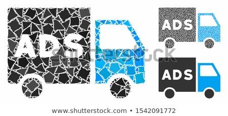 Filmi kamyonet vektör ikon örnek stil Stok fotoğraf © ahasoft