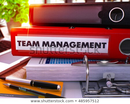 red office folder with inscription team management 3d stock photo © tashatuvango