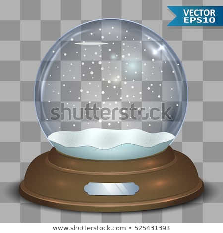 snow globe isolated template empty on transparent background christmas magic ball snowglobe stock photo © iaroslava