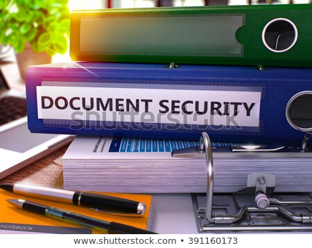 Stock photo: Document Security on Folder. Toned Image. 3D.