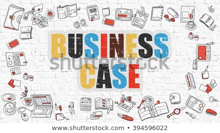 бизнеса случае белый болван стиль иконки Сток-фото © tashatuvango