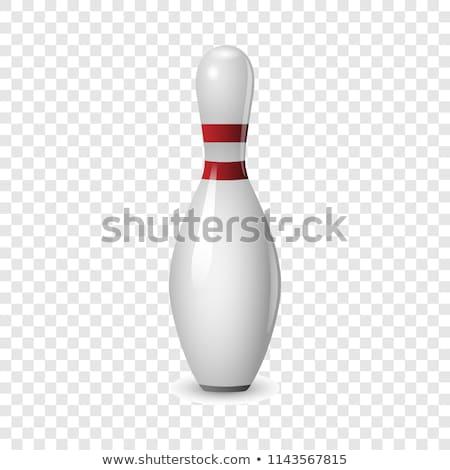 Bowling tő izolált fehér sport jókedv Stock fotó © konturvid
