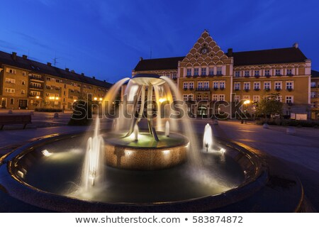 town hall on main square in cesky tesin stock photo © benkrut