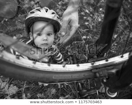 roda · bicicleta · quadro · aço · pneu - foto stock © is2
