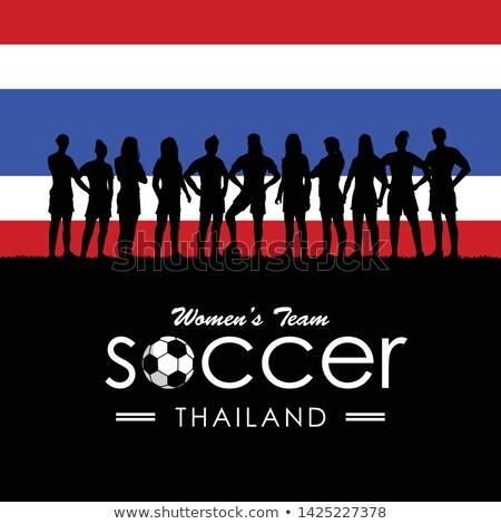 Female footballer standing Stock photo © IS2