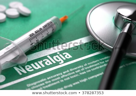 Diagnosis - Neuralgia. Medicine Concept. 3D Illustration. Stock photo © tashatuvango