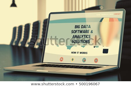 big data solutions and services on laptop 3d stock photo © tashatuvango