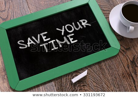hand drawn improve your performance concept on small chalkboard stock photo © tashatuvango
