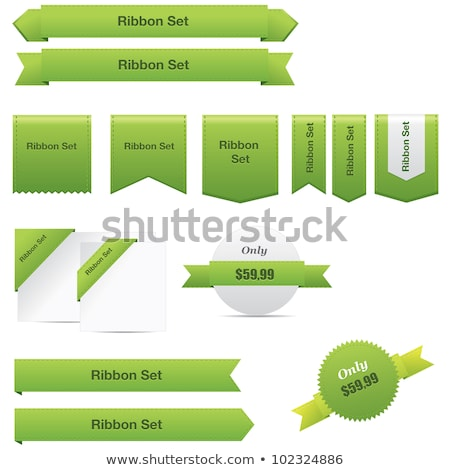Green Web Ribbon Set Stock photo © adamson