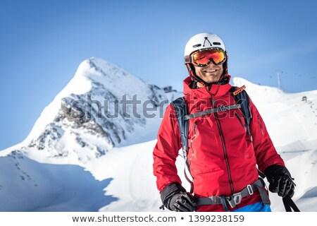 Portre kayakçı doğa kar ayakta macera Stok fotoğraf © IS2