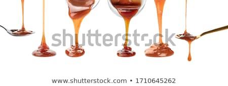 Caramelo molho fundo doce creme doce Foto stock © M-studio