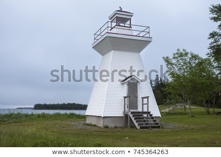 Grandique Point Lighthouse in Nova Scotia Stock photo © benkrut