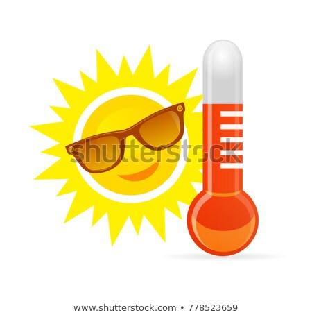 笑みを浮かべて 漫画 太陽 サングラス 温度 ストックフォト © m_pavlov