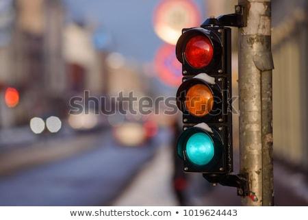 Tranvía semáforo la exposición a largo ciudad resumen calle Foto stock © 5xinc