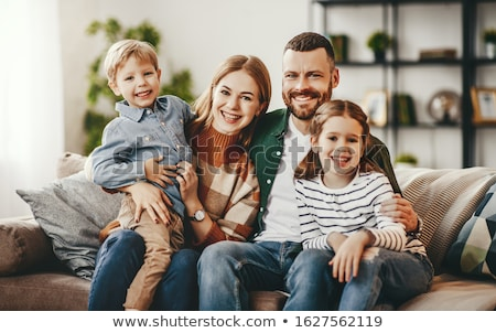 Young boy tickling young girl Stock photo © IS2