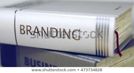 Branding könyv cím gerincoszlop 3D renderelt kép Stock fotó © tashatuvango