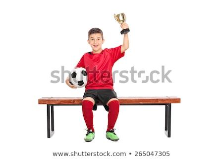 少年 トロフィー サッカー 肖像 成功 ストックフォト © IS2