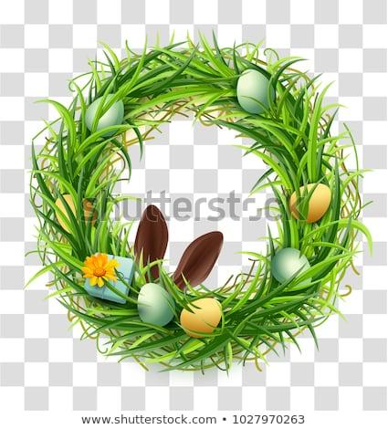 şeffaf · easter · egg · çiçek · lüks · 3D · altın - stok fotoğraf © orensila