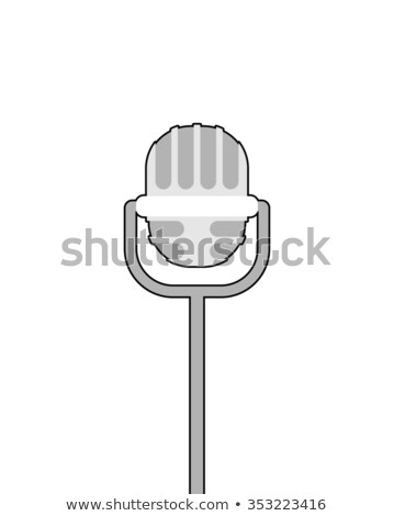 Retro microphone on white background. Accessory for lead perform Stock photo © popaukropa