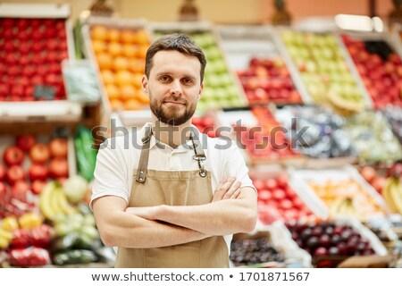 owoców · duży · rynku · organiczny · owoce - zdjęcia stock © is2