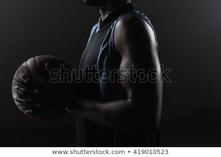 Zoom oldal kosárlabdázó tart kosárlabda fekete Stock fotó © wavebreak_media