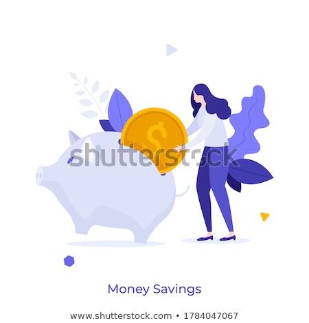 spaargeld · tonen · bank · geld - stockfoto © is2