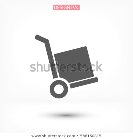 Warehouse cart with cardboard boxes icon Stock photo © studioworkstock