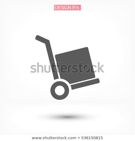 Armazém carrinho cartão caixas ícone armazenamento Foto stock © studioworkstock