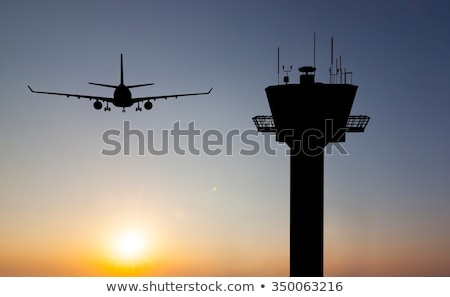 Airport terminal with flight control tower Stock photo © studioworkstock