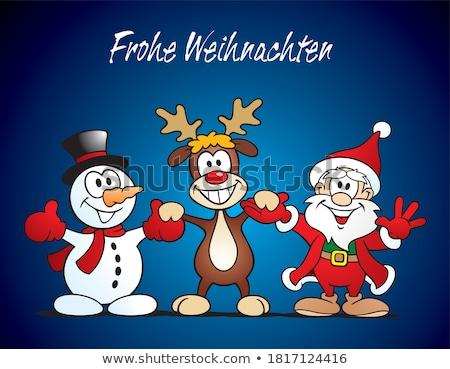 Heureux mascotte dessinée personnage main Photo stock © hittoon