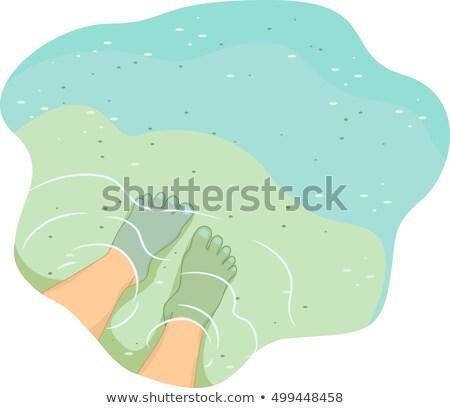 English Antonym Feet Shallow Stock photo © lenm