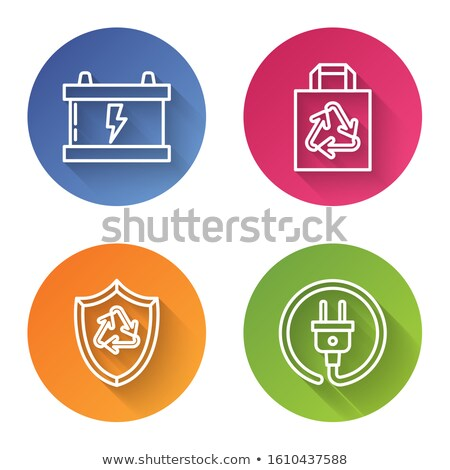 Lightning colorful icon in circle. Vector illustration. Stock photo © FoxysGraphic