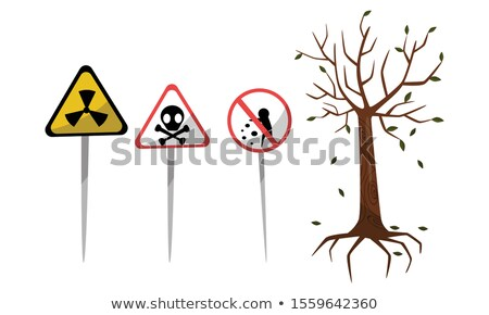 Chemical emissions set. Sign of biological waste. Protective gas Stock photo © popaukropa
