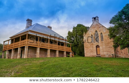 Church and Presbytery, Hartley, Australia Stock photo © smartin69