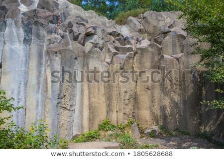 tent weekend on basalt columns Stock photo © romvo