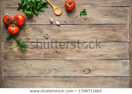 Perejil madera fondo verde planta frescos Foto stock © M-studio