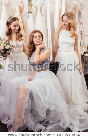 vrouw · groot · diamant · foto · gelukkig · mode - stockfoto © dolgachov