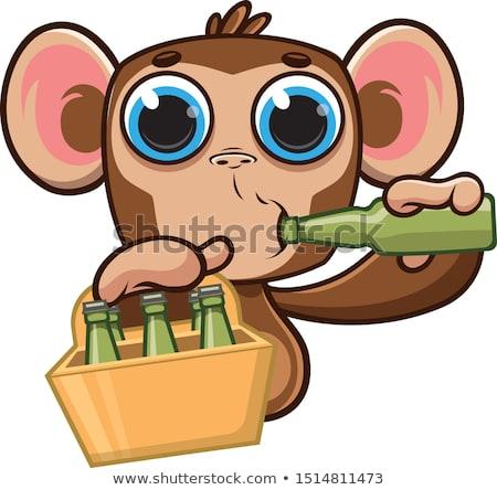 Monkey Mascot Teacher Stock photo © lenm