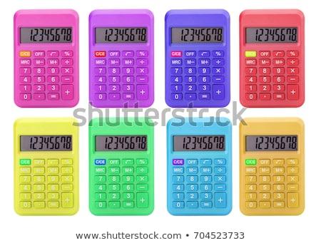 Сток-фото: розовый · калькулятор · изолированный · белый · Финансы