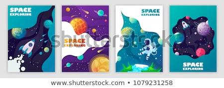 惑星 · セット · 宇宙飛行士 · 飛行 · 月 · 地球 - ストックフォト © genestro